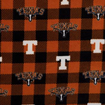 Texas Allover Collegiate Fleece Fabric