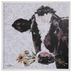 Floral Cow Wood Wall Decor