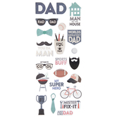 Dad Foil Stickers