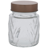 Chevron Ridged Glass Jar
