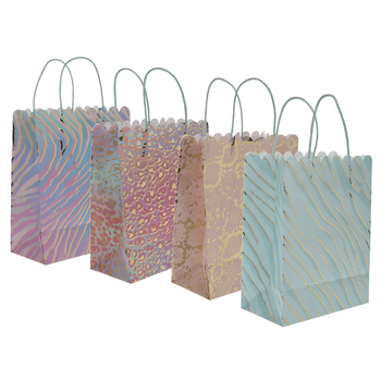 Animal Print Foil Craft Gift Bags