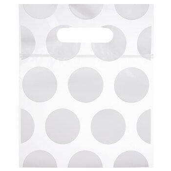 White Polka Dot Zipper Bags