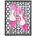 Pink Stilettos Obsessed Wood Wall Decor