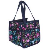 Blue Floral Square Organizer Tote Bag