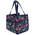 Blue Floral Square Organizer Tote Bag