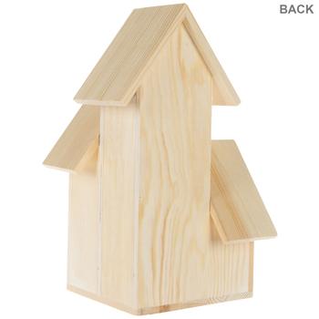 Duplex Wood Birdhouse
