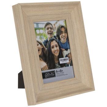 Beige Scoop Wood Look Frame