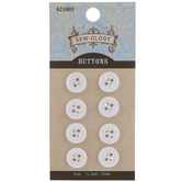 White Round Buttons - 11mm
