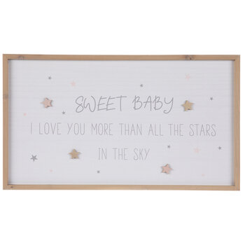 Sweet Baby Stars Wood Wall Decor