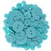 Aqua Assorted Round Buttons