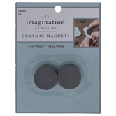 """Round Ceramic Magnets - 1"""""""