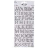 Silver Glitter Alphabet Stickers