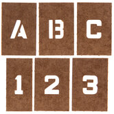 Reusable Oilboard Letter & Number Stencils