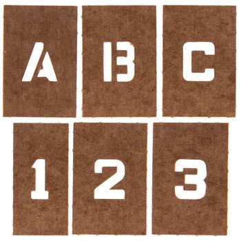 "Reusable Oilboard Letter & Number Stencils - 1/2"""