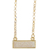 White Glitter Rectangle Necklace