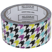 Purple, Green & Blue Houndstooth Art Project Tape