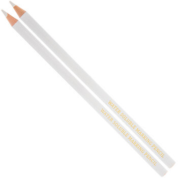White Water Soluble Marking Pencils - 2 Piece Set