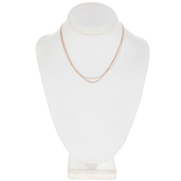 Three-Strand Chain Necklace - 16""