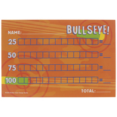 Bullseye Party Score Cards