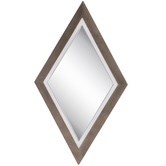 Diamond Wood Wall Mirror