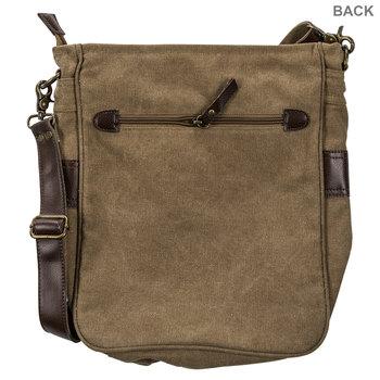 Dark Beige Heavy Canvas Crossbody Bag