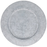 Galvanized Metal Charger Plate
