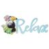 Relax Toucan Glitter Wood Wall Decor