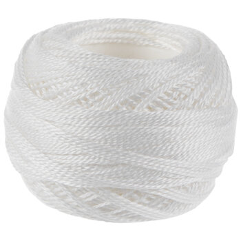 8 White DMC Pearl Cotton Thread - Size 8