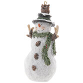 Snowman With Owl Ornament