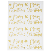 Merry Christmas & Stars Foil Stickers