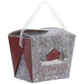 Winter Barn Takeout Boxes