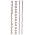 Off White Assorted Wood Bead Strands