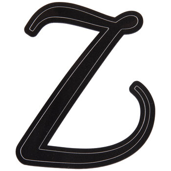 Black Letter Stickers - Z