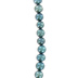 Teal Cultured Pearl Potato Bead Strand
