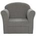 Plush Gray Child's Chair