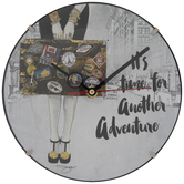Time For Another Adventure Clock