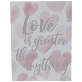 Love Is Greater Wood Wall Decor