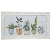Potted Plants Wood Wall Decor