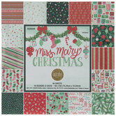"""Miss Mary Christmas Paper Pack - 6"""" x 6"""""""