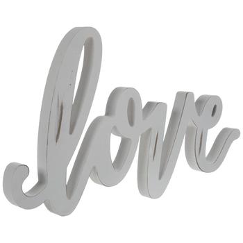 White Love Wood Decor