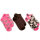 Panda Heart Low Cut Socks
