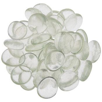 Transparent Oval Glass Mosaic Gems