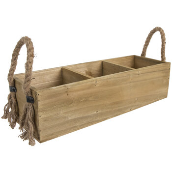 Three Compartment Wood Container