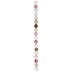 Watermelon Round Faceted Crystal Bead Strand