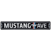 Mustang Avenue Metal Sign