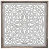 Whitewash Mandala Wood Wall Decor