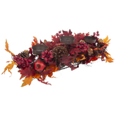 Pinecone, Berry & Leaves Candle Holder Centerpiece