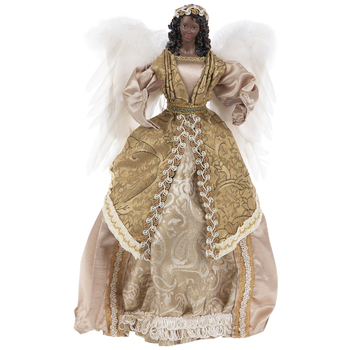 Angel With Gold Dress Tree Topper