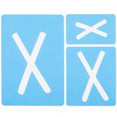 Fun Font Monogram Adhesive Stencils - X