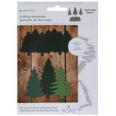 Pine Tree Silhouette Dies